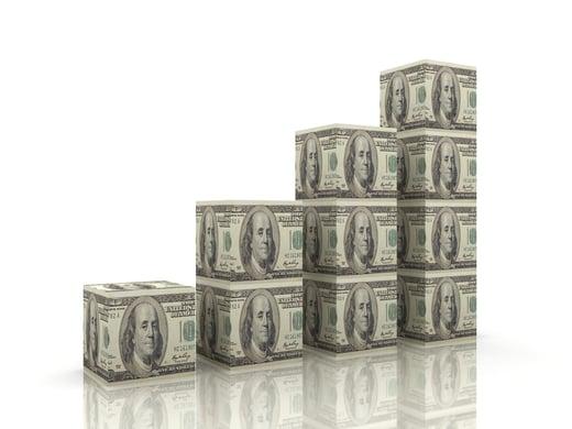 Money growth bar chart iStock-843180958